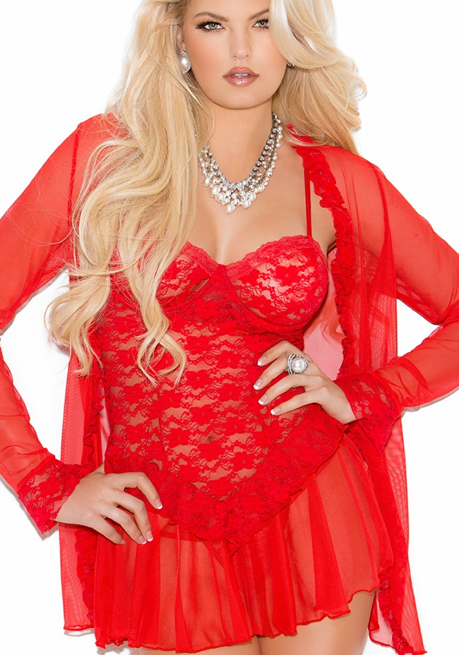 great prices release date utterly stylish Babydoll Femme Romantique Rouge Polyester Pas Cher ...