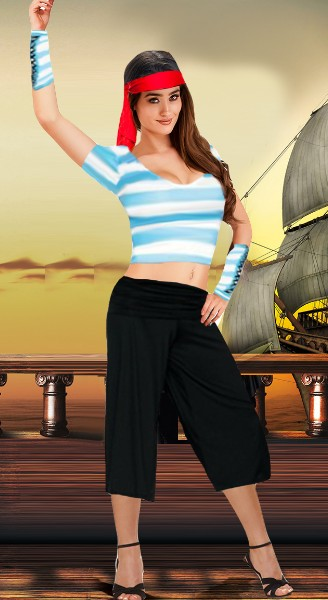 Costume Sexy Femme Pirates Polyester Pas Cher