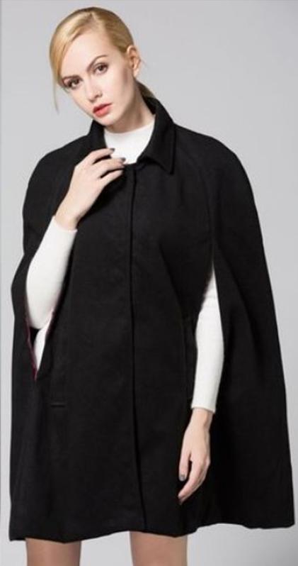 Full Hiver Manteau Solid Noir Vente Col Pas Cher En O Femme Chine Gros xwxYpa