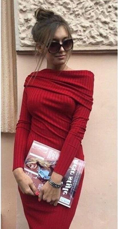 Robes Pull Femme Rouge Slash Breve Cou Pas Cher Tous Les A Ligne Jupes Courtes Vente En Gros Chine