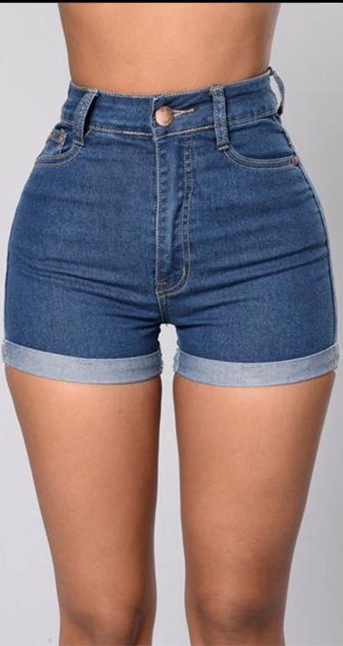 Shorts Femme Bleu Casual Shorts Soldess