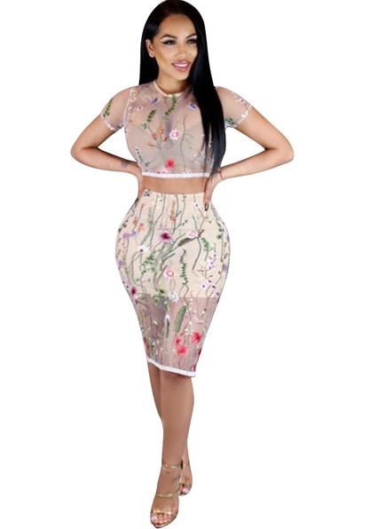 fashion style performance sportswear latest Vêtements Deux Pièces Femme Sexy Brief O-cou Court A-ligne ...